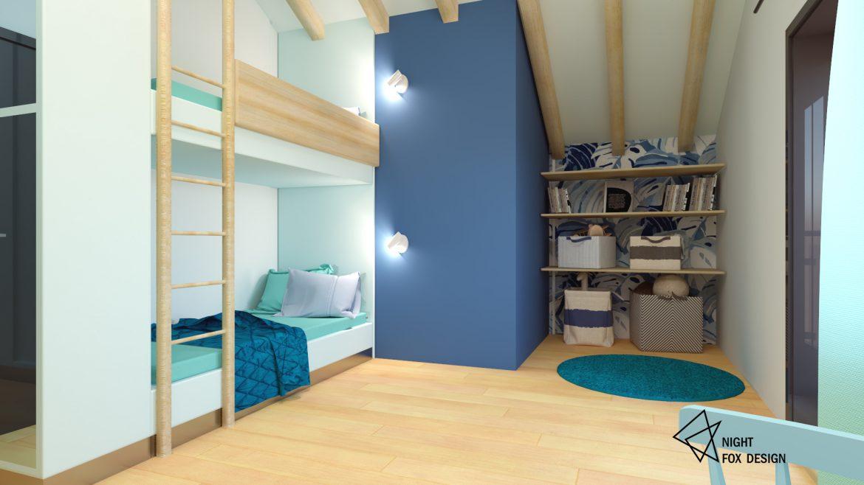 Интериорен дизайн - деткса стая в къща