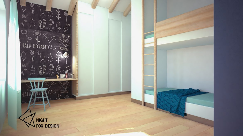 Интериорен дизайн - Деткса стая в къща от Night Fox design