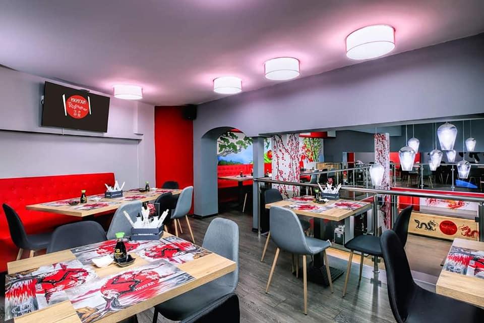 Интериорен дизайн - суши бар Икигай